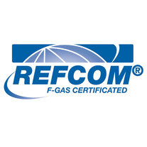 Logo and link to Refcom website  showing that we are certified F Gas electricians in Hinckley, Leicester, Leicestershire