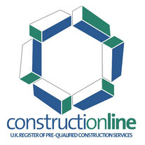 Logo and link to Construction website  showing that we are approved contractors & electricians in Hinckley, Leicester, Leicestershire