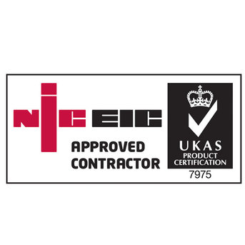 Logo and link to NIC EIC showing that we are approved electricians in Hinckley, Leicester, Leicestershire