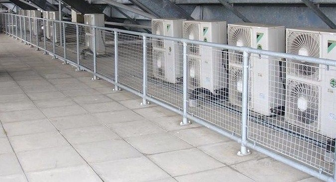 A bank of commercial air conditioning units in  commercial premises in Hinckley, Leicestershire